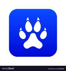 Cat Paw Design Cat Paw Icon Digital Blue