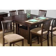 High Top Dining Table With Storage Jofran 373 55 Counter Height Storage Dining Table The Mine