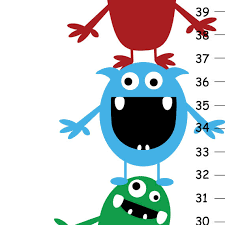 Cute Growth Chart Childrens Growth Chart Cute Little Monsters Idealpin