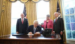 trump signs new executive orders on cartels crime and law president donald trump signs an executive order in the oval office of the white house in
