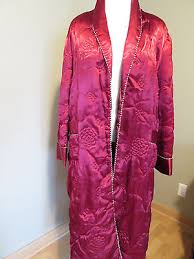 Vintage Robe Chinese Coat Shanghai Quilted Satin Dressing Gown Sz ... & Vintage Robe Chinese Coat Shanghai Quilted Satin Dressing Gown Sz 42 Large  Xl 1x Adamdwight.com