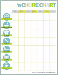 Sample Chore List Free Printable Weekly Chore Charts 12