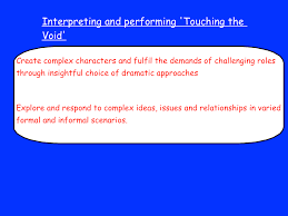 the void essay touching the void essay