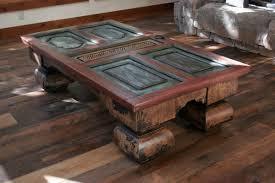 design of door coffee table with antique door tables