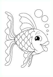 Tranh tô màu con cá cute « in hình này