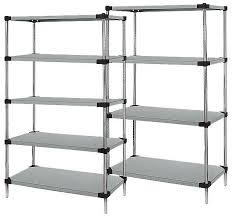 solid stainless steel shelving 54 high starter unit