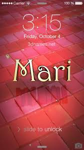 preview of red tiles for name mari