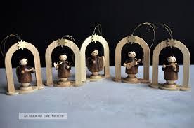 5 Baumbehang Engel Instrument Erzgebirge Handarbeit Holz