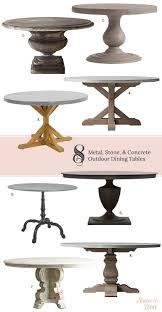 concrete outdoor dining tables