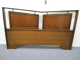 mid century modern king bed. Mid Century Modern King Bed Striking Sculptural Walnut Size Headboard This Piece Is Very Well Beds