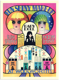 ap1403 baby doll cosmetics woolworths make up advert 1960s 30x40cm art print