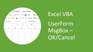 Excel Userform Msgbox 5 Ok Cancel Message Box Vba Youtube
