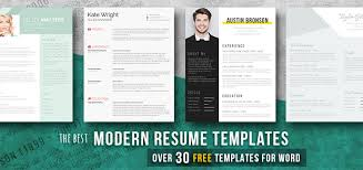 Modern Resume Design Enchanting Modern Resume Templates [60 Free Examples] Freesumes