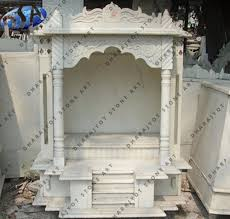 Stone Mandir Design White Marble Polished Temple Mandir For Home Decor Buy Pooja Mandir For Home Mandir Design For Home Indian Mandir For Home Product On Alibaba Com