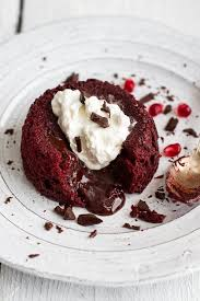 Red Velvet Molten Chocolate Lava Cakes With Chocolate Ganache Center