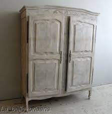 French Country Cabinet Shabby French Country Two Door Armoire Cabinet Lk For Sale