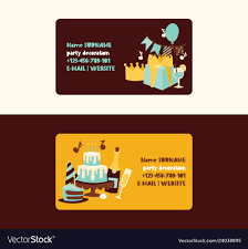 Happy Birthday Business Card Birthday Party Anniversary Business Card