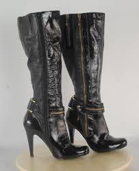 dune womens uk size 6 eu 39 black leather knee high boots