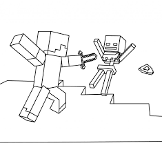 Minecraft Coloring Pages For Kids With Minecraft Coloring Pages Kids