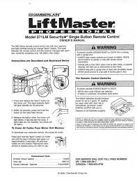 chamberlain garage door opener manualLiftmaster Remotes Instructions 971LM Liftmaster Remote