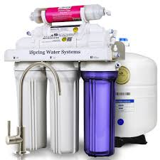 ispring reverse osmosis water filter system w alkaline mineral stage 75gpd 6 stage rcc7ak with designer faucet com