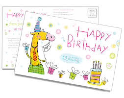 Birthday Postcard Template Design Id 0000000751