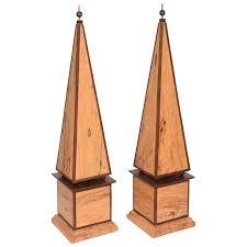 obelisk furniture. Pair Of Wood Obelisk By Roger Russell Anderson Island, Washington State Furniture