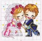 Жених и невеста схема вышивки крестом