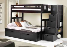Staircase Bunk Bed Espresso