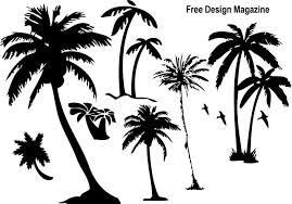 夏デザイン無料のパームツリー椰子の木シルエット素材 All Free