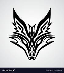 tribal fox drawing. Perfect Fox Tribal Fox Face Vector Image In Drawing K
