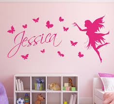 personalised name with erflies and fairy