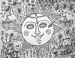 Small Picture Sweet Summer Days A Color Yourself Hippie Art Art Coloring