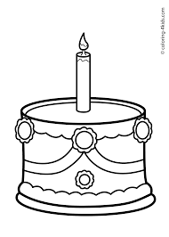 Cake Birthday Party Coloring Pages For