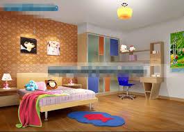 3d bedroom model free. orange lovely childrens bedroom 3d model free g