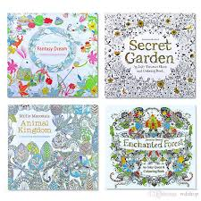 dhl shipping secret garden kids coloring book 24 pages kingdom enchanted forest fantasy dream painting