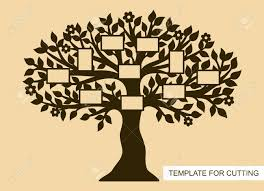 Template Tree Family Tree With Photo Frames Template For Laser Cutting Wood