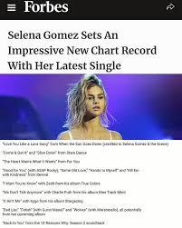 Selena Gomez Charts Selena Gomez Sets An Impressive New Chart Record With Her
