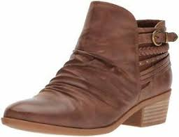 Details About Bare Traps Womens Guenna Almond Toe Ankle Cowboy Boots