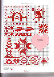 Scandinavian Christmas Cross Stitch Chart Xmas Cross