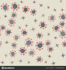 hippie wallpaper with funny small flowers ditsy like print vector by mettus