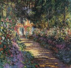 claude monet pathway in monet s garden at giverny c