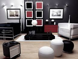 Black and White Living Room Decor Matching Modern and Country House Designs  : Contemporary Red Black
