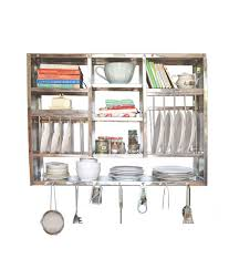 Bharat Gloss Finish Stainless Steel Kitchen Rack 30X42 inch