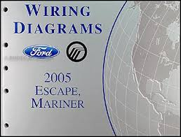 2005 ford escape mercury mariner wiring diagram manual original