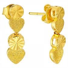 quick view heart dangling earring in 22k yellow gold