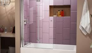 trackless enclosures veil scenic door images kohler sliding tubshower shower bypass glass fold doors menards