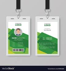 Creative Id Card Template With Abstract Green