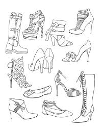 Shoes Coloring Page