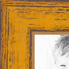 yellow rustic wood picture poster frame 1343